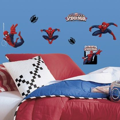 Ultimate Spider-Man - Flotte wall stickers med med Marvels berømte superhelt.