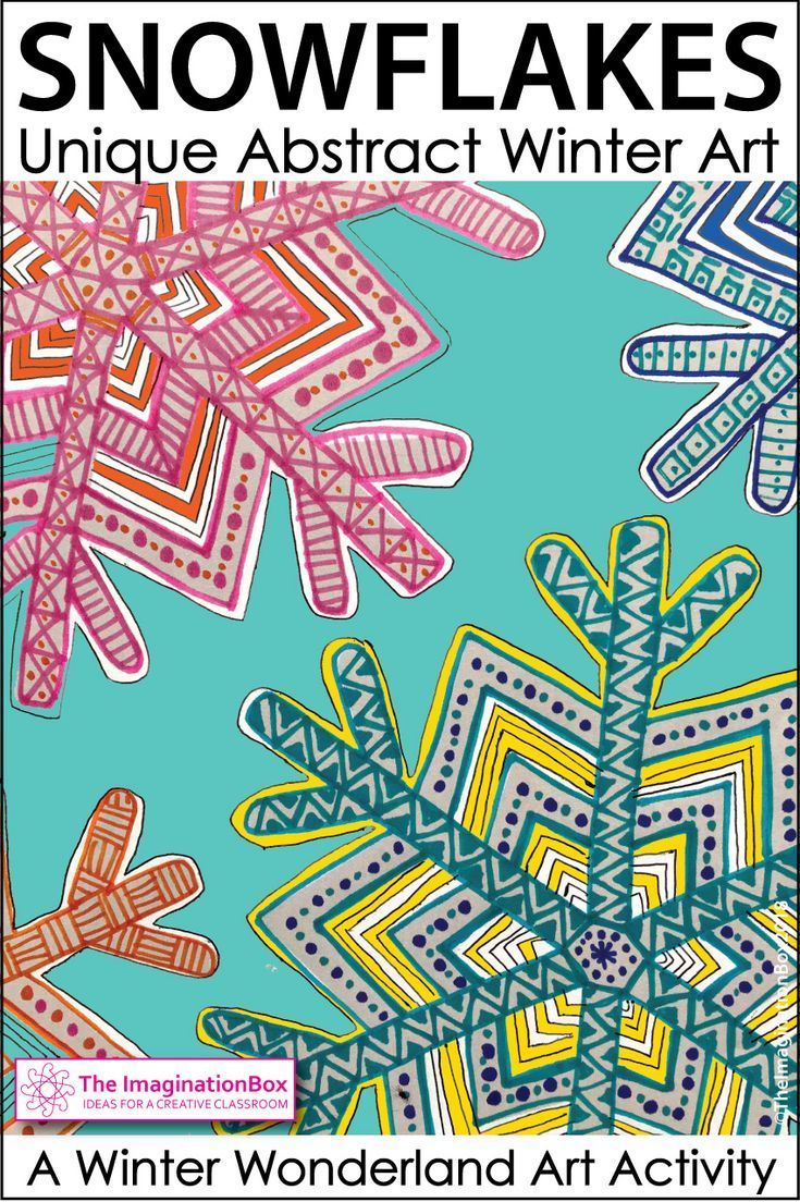 Winter Coloring Pages - Snowflake Art Activity | Seasonal