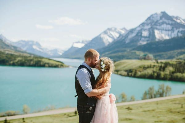 Romantic Mountainside Elopement with photos by David Guenther