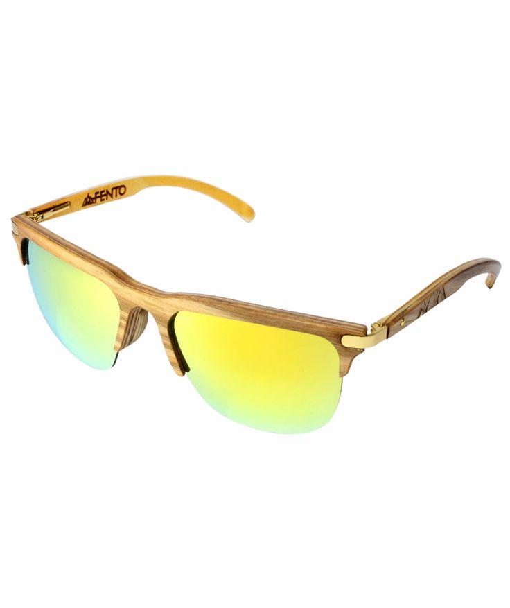 Regalos que encantan: Gafas en madera Trevo Ash gold yellow FENTO en Dekosas.