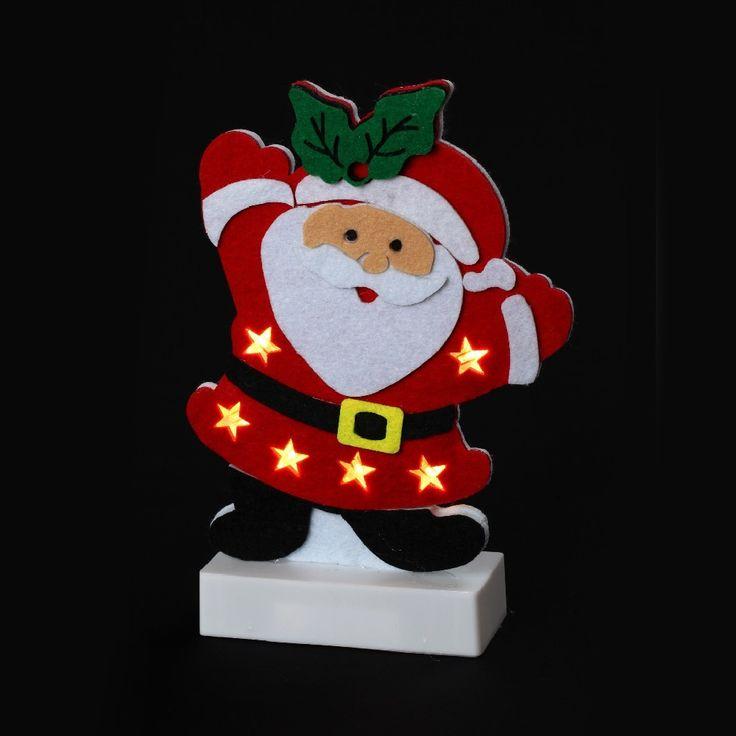 Père-Noël lumineux à led étoiles