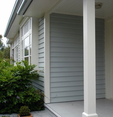 Pale blue for weatherboard. Such a beautiful color!!