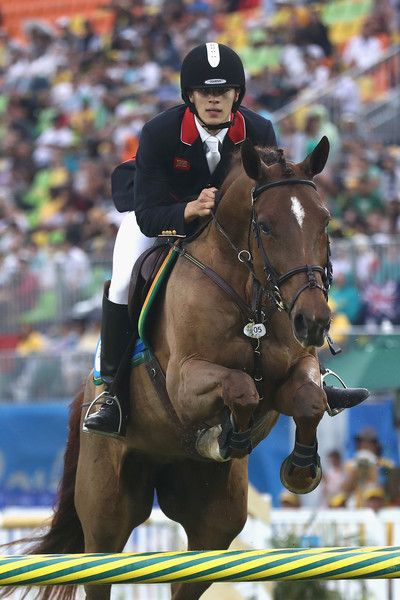 Joseph Choong of Great Britain during the show jumping round of Modern Pentathlon on Day 15 of the Rio 2016 Olympic Games at Deodoro Stadium on August 20, 2016 in Rio de Janeiro, Brazil.