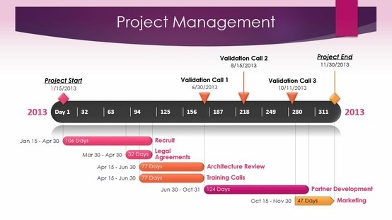 project management timeline template made with office timeline powerpoint plug in timelines. Black Bedroom Furniture Sets. Home Design Ideas