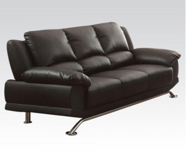 Acme Furniture - Maigan Bonded Leather Sofa in Black - 51205