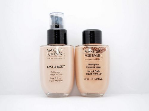 Makeup Forever Face and Body foundation - water based so it feels super light on the skin and looks really natural