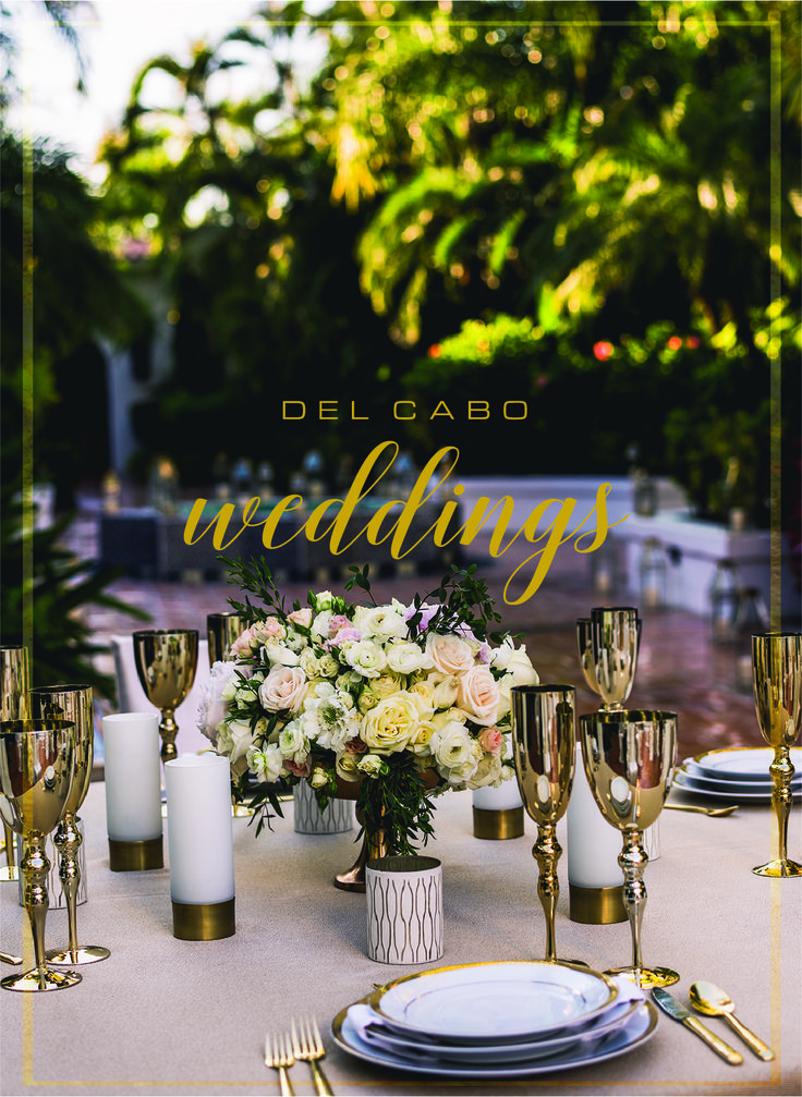 Metallic décor for you destination wedding! Have a sparkling reception at your wedding in Cabo!