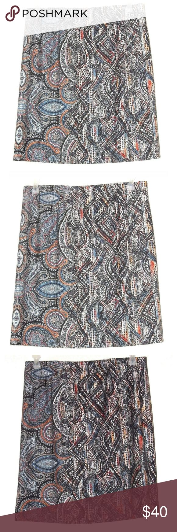 J JillMod Paisley PrintPonte Pencil Skirt J Jill  Mod Paisley  Jacobean Print  Ponte Pencil Stretch Skirt  Size M  Career/ Wear to Work   Excellent like new condition! No stains rips or flaws..   Measurements:   Waist:16in  Length:20.5in J. Jill Skirts Pencil