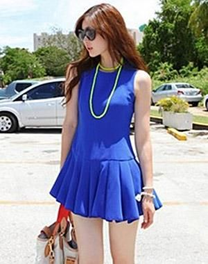 Dress Tanktop Biru Korean Style ( KK D 31 ), Harga Terbaik Hanya di Cakning Store. #Fashion #Women
