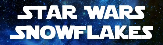 Star Wars snowflake catergory banner