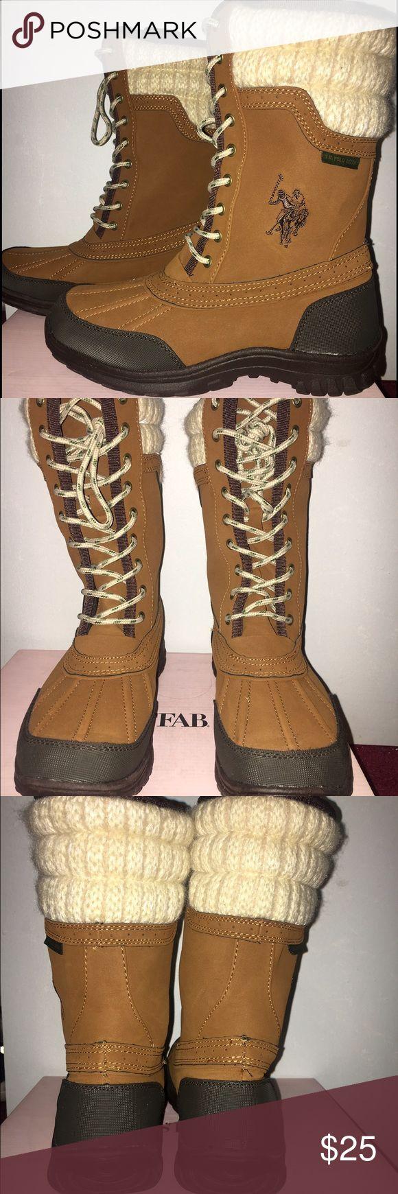 U.S polo boots ✨ Worn once , like new . U.S. Polo Assn. Shoes