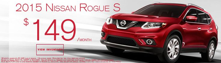 2015 #Nissan #Rogue Lease Special #cars #auto #carshopping #newcars http://www.naplesnissan.com/searchnew.aspx?year=2015&model=Rogue&trim=S