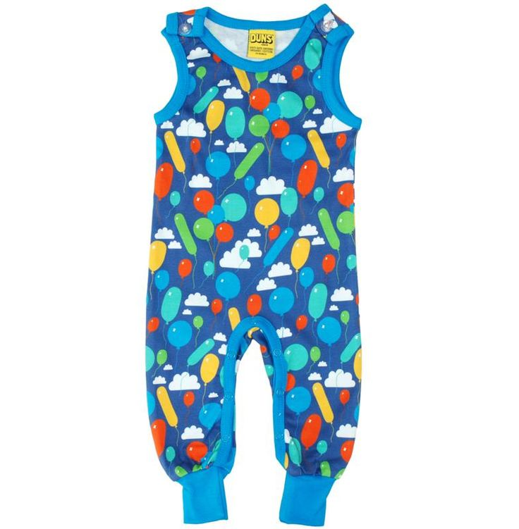 Duns Sweden Organic Dungarees - Balloon - Blue Retro Baby Clothes - Baby Boy clothes - Danish Baby Clothes - Smafolk - Toddler clothing - Baby Clothing - Baby clothes Online