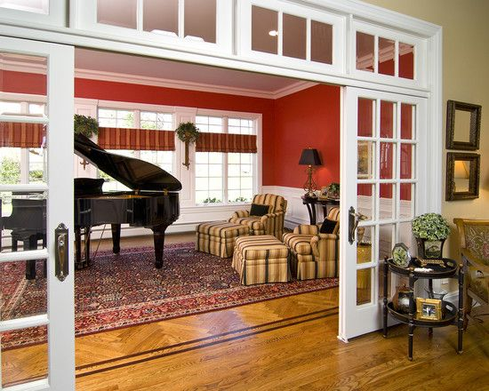 Living Room French Doors Design