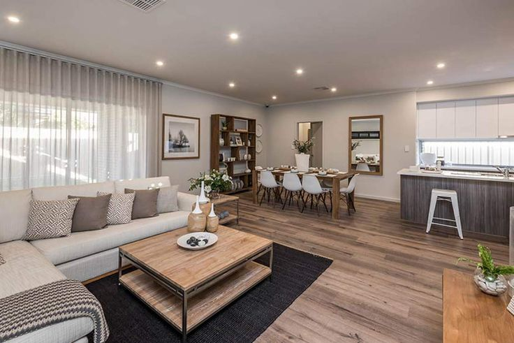 Gorgeous open plan living  provides the perfect place to unwind. #weeksbuildinggroup #newhome #homedesign