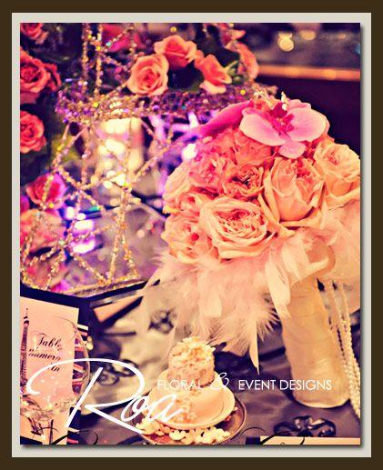 Parisien inspired pink bouquet.