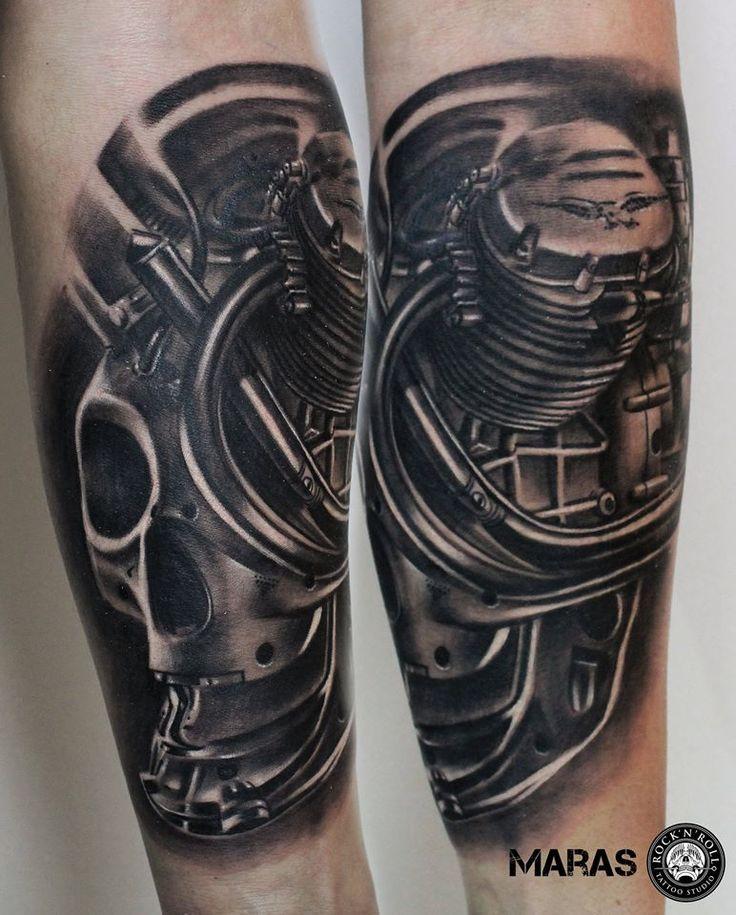 czaszko silnik tatuaz | zoom | digart.pl