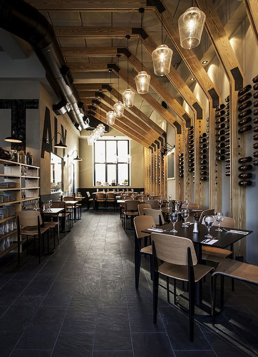 Middle East & Africa (Restaurant): Little Italy (Israel) / Opa Studio. Image  Rustic use of materials with sleek lines and modern appeal.