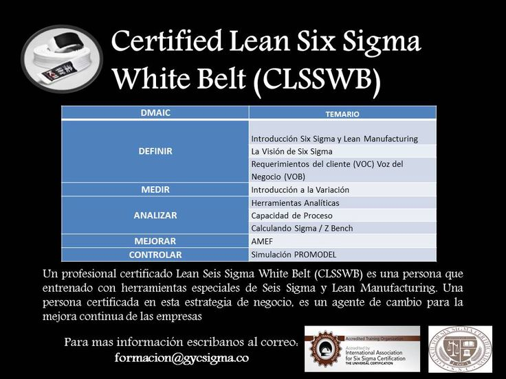 The 13 Best Certificacion Lean Six Sigma White Yellow Green