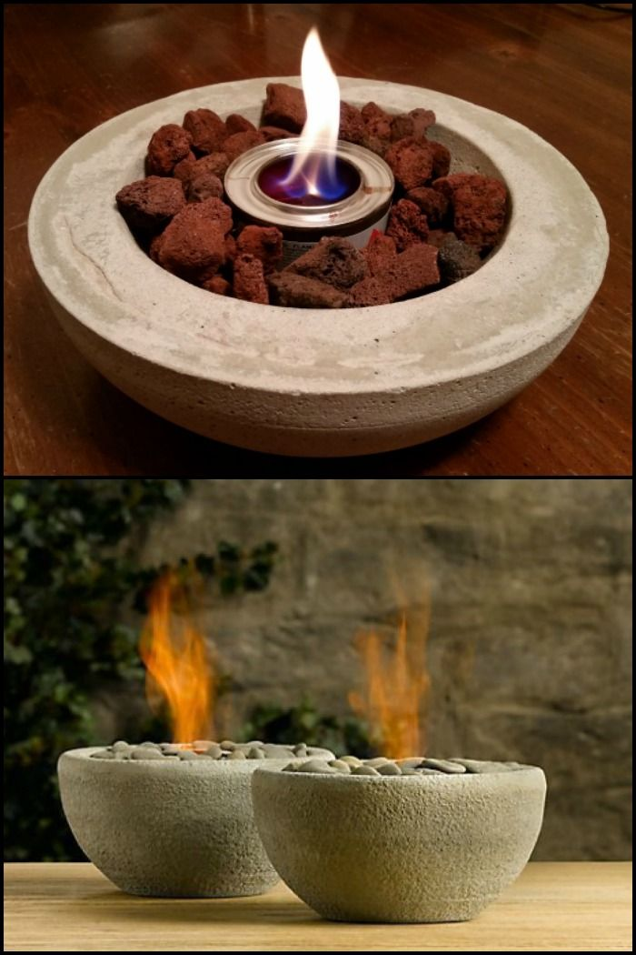 Enjoy A Nce Warm Fire By Making This Diy Tabletop Fire Pit