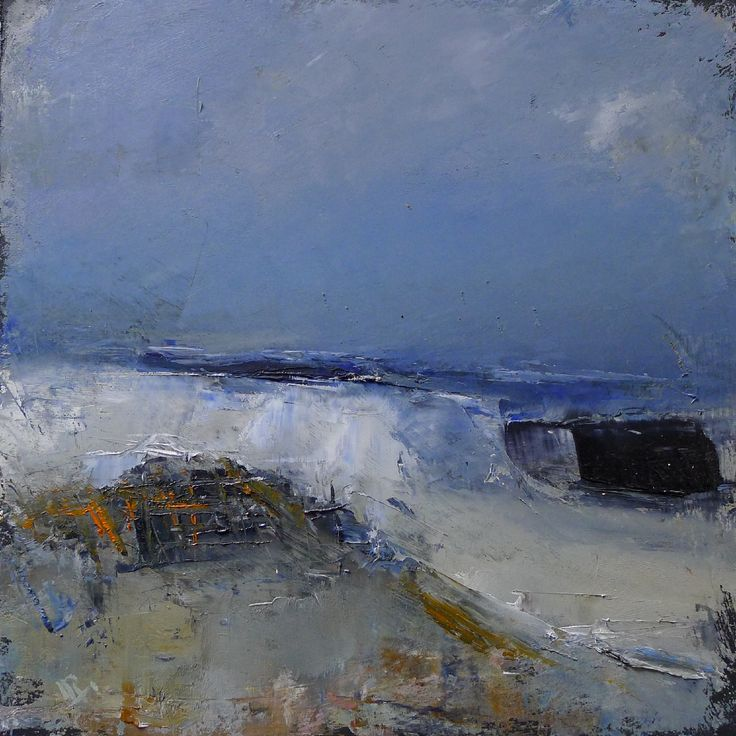 Harbour storms 12 x 12 inches oil on board
