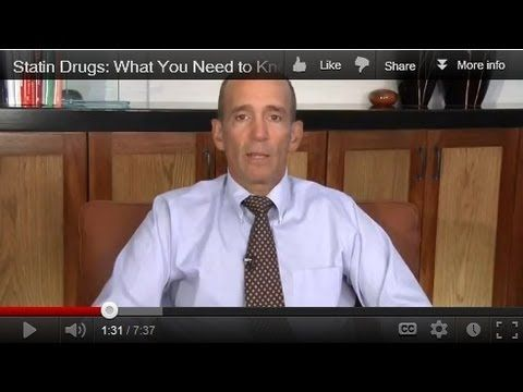 Statin Drugs: What You Need to Know!  What is high cholesterol and what should you do about it?