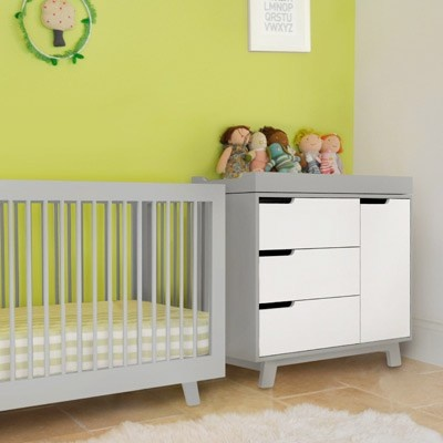 Babyletto Hudson Convertible Crib Grey, And Hudson Changing Table/Dresser