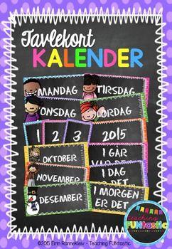 Kalenderkort til klasserommet (BM & NN)