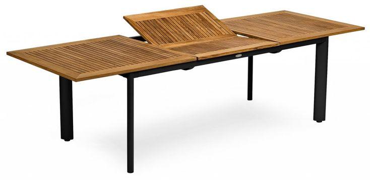 Nydala bord 200/280 svart/teak