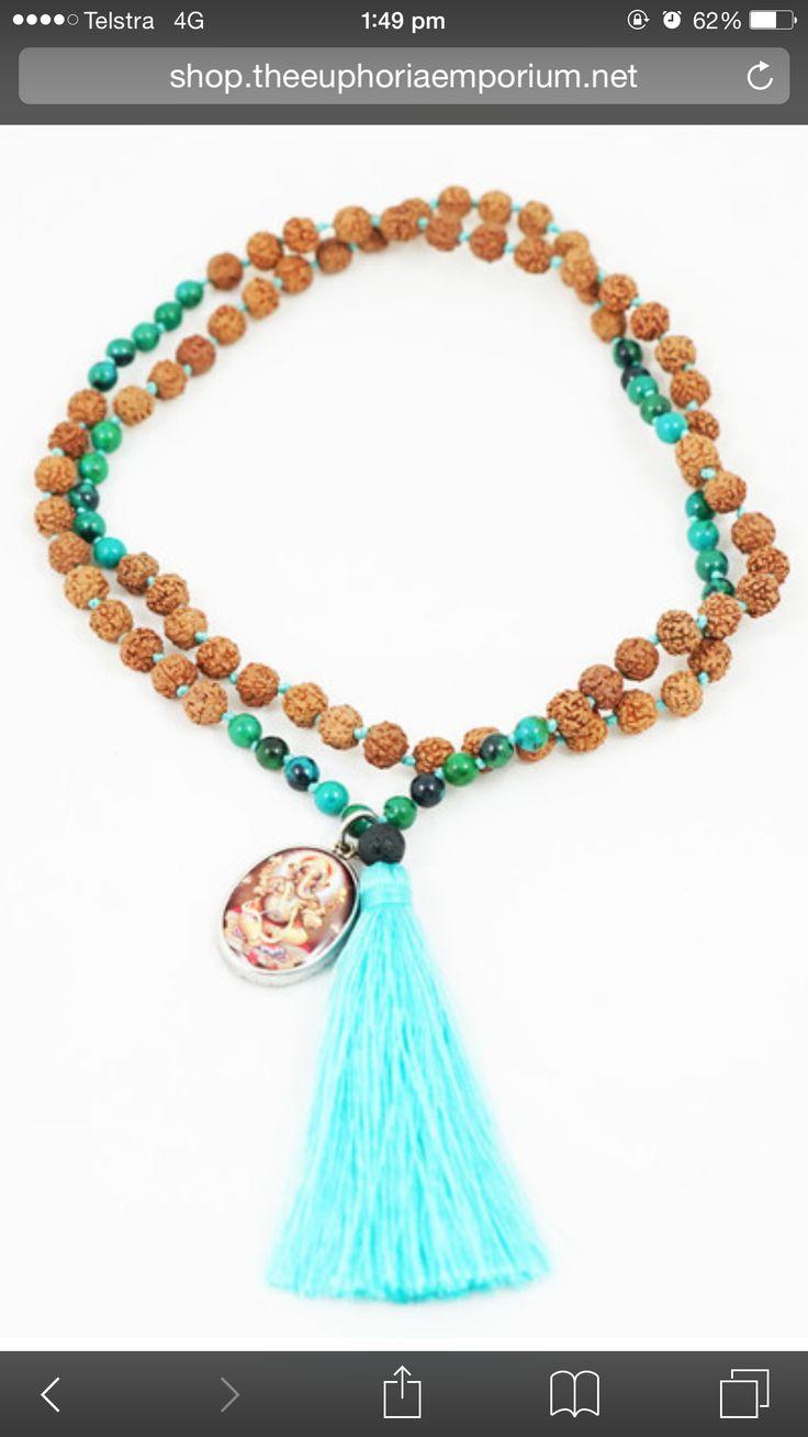 Rudraksha mala beads available now at The Euphoria Emporium