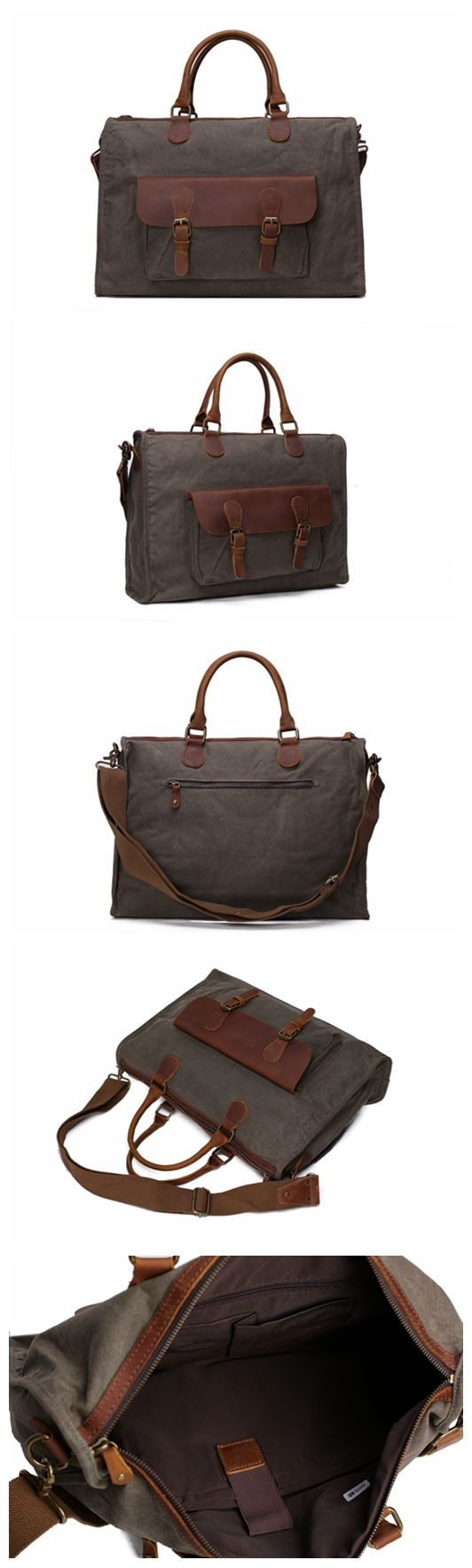 Waxed Canvas and Leather Messenger Bags, Laptop Briefcases, Shoulder Bags