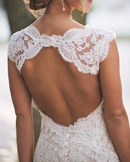 pretty wedding dress #lace