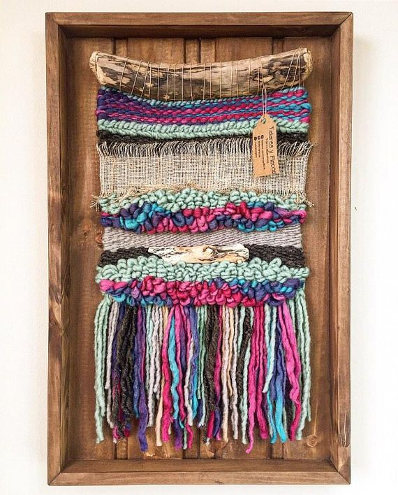 Made To Order Handmade Woven Wall Hanging Made In Chile With Natural Wool Burlap And Driftwood From Woven Wall Hanging Tapestry Weaving Weaving Wall Hanging