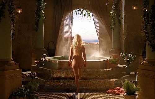 Pentos - Game of Thrones set design.  And some lovely Daenerys butt!