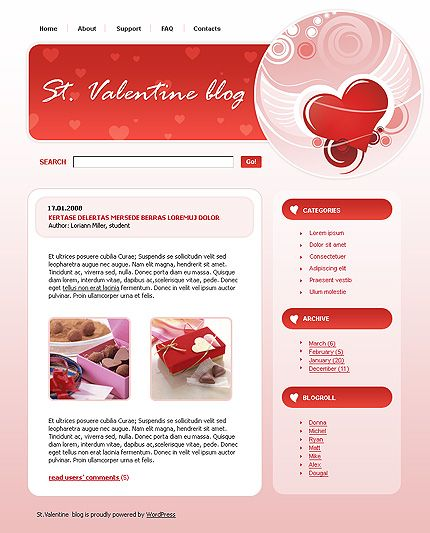 St. Valentine WordPress Themes by Di