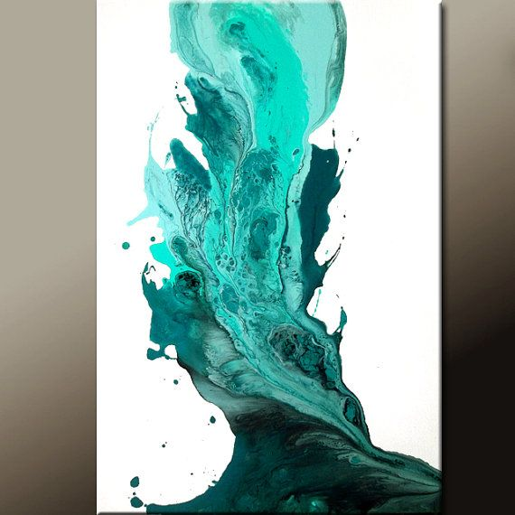 Returning to Heaven - Abstract Art Painting on Canvas Original 36x24 by wostudios, $169.00