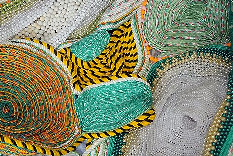 Colourful sculptural installations by Maria Nepomuceno » Lost At E Minor: For creative people