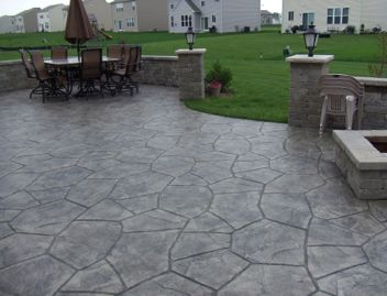 Stamped Concrete - would love instead of a deck!