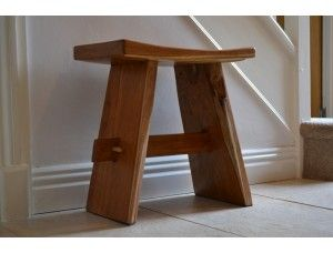 Teak Shower Stool - Dark