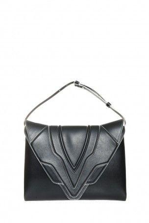 ELENA GHISELLINI Fatale Pochette. #elenaghisellini #bags #shoulder bags #leather #pouch #accessories #