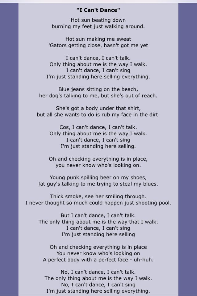 Philcollins lyrics
