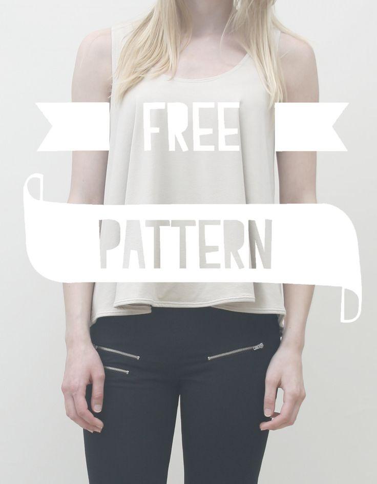 Me & Sew: LOOSE TOP - FREE PATTERN. Cute shape!