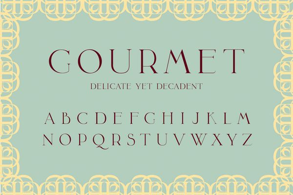 GOURMETInspiration Types, Sweets Hom, Beatiful Typeface, Types Fonts, Graphics Design, Gourmet Typeface, Lauren Hom, Hom Sweets, Typography