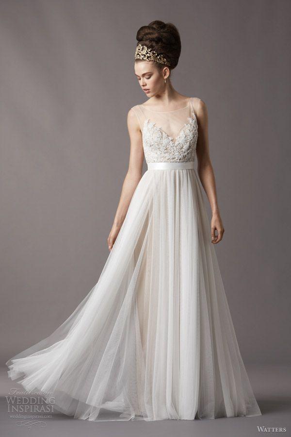 love!! watters spring 2014 bridal jacinda wedding dress 4061b