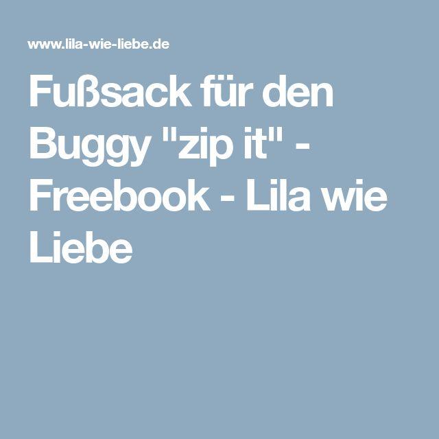 """Fußsack für den Buggy """"zip it"""" - Freebook - Lila wie Liebe"""