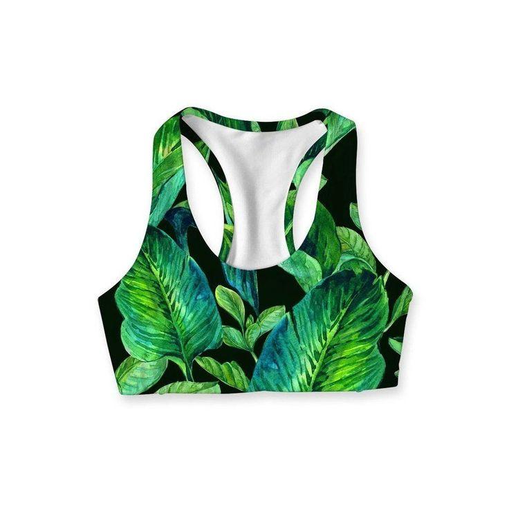 Green Energy Stella Seamless Racerback Sport Yoga Bra #yogabra