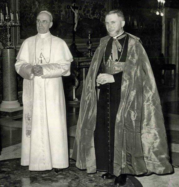 Pope Pius the 12th and Archbishop Marcel Lefebvre