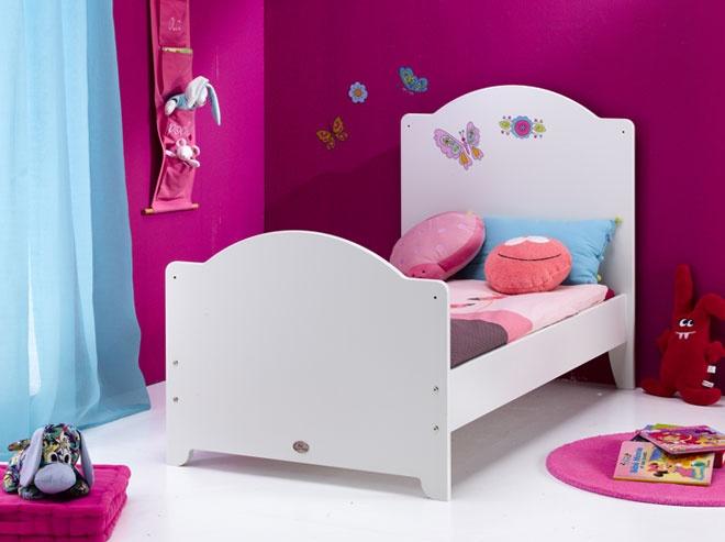 Lit bébé évolutif transformé en lit enfant 70 x 140 utilisable jusqu'aux 7 ans de l'enfant. (Après transformation)
