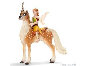 The Female Elf on Forest Unicorn from the Schleich World of Fantasy collection
