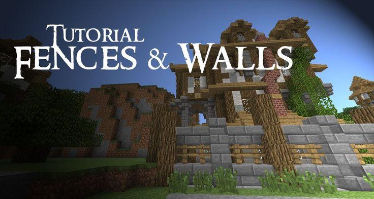 Minecraft Tutorial: Medieval FENCES and WALLS | Minecraft ...